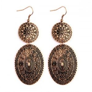sewchicboutique Jewelry - Burnished Mandala Earrings